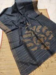 Matka Silk Ghicha Thread Weaving Sarees