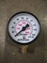 Oxygen Gas Cylinder pressure gauge