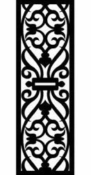 Black and white Wooden MDF jali, Size/Dimension: 30x10 Inches 6mm