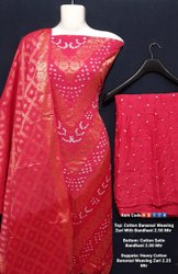 Cotton Banarasi Weaving Zari Suits