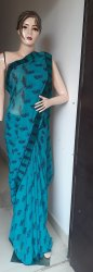 Stupendo dresswala Printed Pure Georgette Saree, 6.5 m