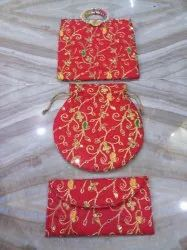 Red Embroidered Fancy Bag