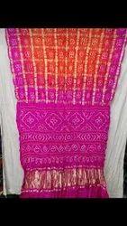Pure Gazi Silk Bandhni Sarees