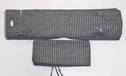 Viscose Black Striped Mattress Fabric, 90 Gsm
