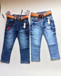 Denim Casual Wear Kids Faded Jeans, Size: 22-40, Machine wash