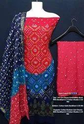 Rayon Embroidery Work With Bandhani