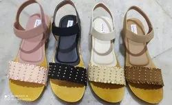 Good quality material Flats & Sandals Ladies Footwear, Size: 37x42