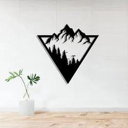 Metal art Mountain wall Hanging