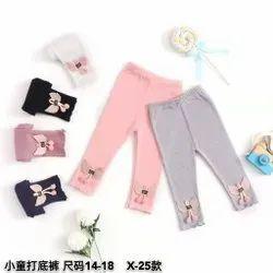 Casual Wear Plain Baby Leggings