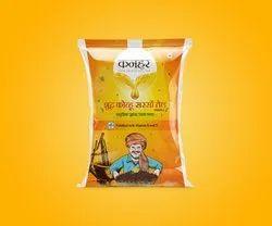 Yellow Kachchi Ghani Mustard Oil, Packaging Size: 1 litre