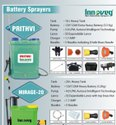 Prathvi 12V/12AH Battery Powered Knapsack Sprayer
