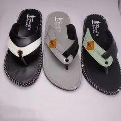 Black Rubber Mens Flip Flop, Size: 6-10