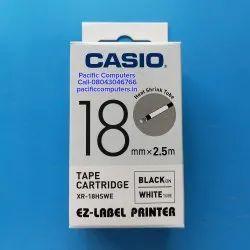 Casio XR-18HSWE 18mm Heat Shrink Tape