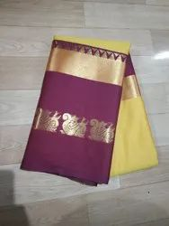 Rd collection 12 colours Seiko Silk Saree, 6.3 m (with blouse piece)