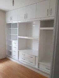 Plywood Modular Wooden Wardrobe, Size: Standard