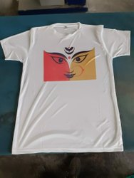 Polyester White T Shirt Printing