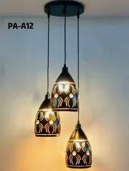 LED black fancy hanging light