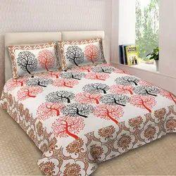 Tree design cotton bedsheet