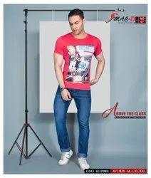 Round Half Sleeve Mac D Mens T Shirts, Size: M L XL XXL, Age Group: 18-30