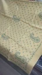 Peach Casual Wear Embroidered Saree Cotton, With Blouse Piece, 6.3 m