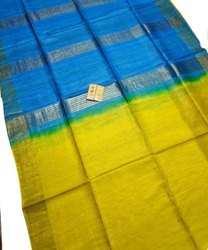 Party Wear Printed Ghicha Silk Saree, 6.5