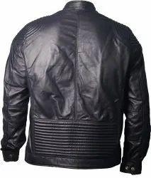 Blackberry Quilted Panel Biker Jacket