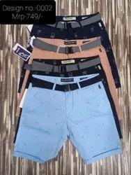 Nextbit jeans Knee Length Men Cotton Shorts, Model Name/Number: Design 0002