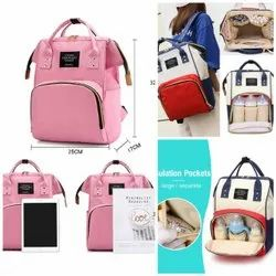 Anello Black Mother Bag - Diaper Bag