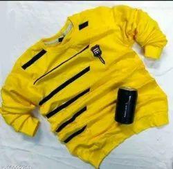 Yellow Comfy Glamorous Men Tshirts