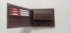 Tan Bi Fold Leather Gents Wallet, Card Slots: 3