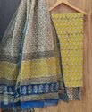 Bagru Hand Block Print Cotton Dress Material With Kota Doria Dupatta