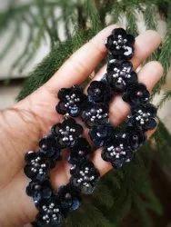 Black Beads Bead Earrings