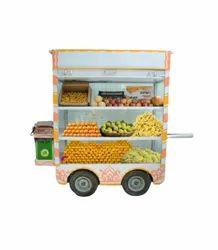 Metal White Fruits & Vegetable Cooling Vending Carts, Vehicle Model: Premium 2.0
