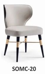 Modern Leather And Wooden SOMC-20 Designer Chair, For Cafe