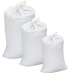 White Plain Plastic Bardana Bags, For Grocery, Holding Capacity: 10 kg to 100 kg