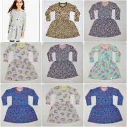 Kids Girl Printed Cotton Frock