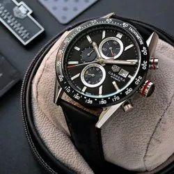 Black Tag Heuer Carrera Watch For Men