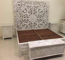 JAE Mango Bedroom Furniture Bangalore, Size: Queen