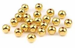 Golden Plastic Ccb Beads, Size: 6mm