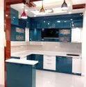 Frosty White High Glossy Modular Kitchen