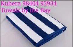 Cotton Blue Swimming Pool Towel, Size: 30 X 60. &. 36 X 72 Inches