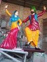 Fibre bhangra statue
