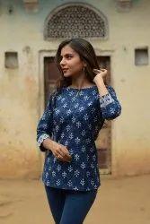 Cotton Formal Wear Western Tops