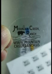 Transperent Sticker Printing