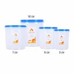 Containers Transparent Round Container, For Food Storage