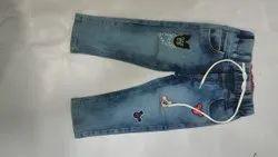 Comfort Fit Dark Blue Boys Denim Jeans, Waist Size: 30