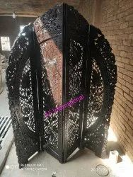 3 Panel Wooden Partition Screen, 4