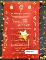 Velvet Scroll Wedding Cards, Size/Dimension: A4