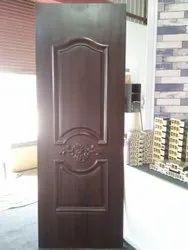 Rectangular Brown Solid Pvc Panel Door, Frame Material: Wooden