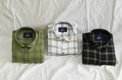 Collar Neck Casual Wear Chex Shirts